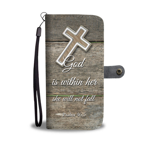 Christian Wallet Phone Case God Is Within Her