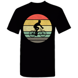 Cyclist Retro Sunset Silhouette T-Shirt