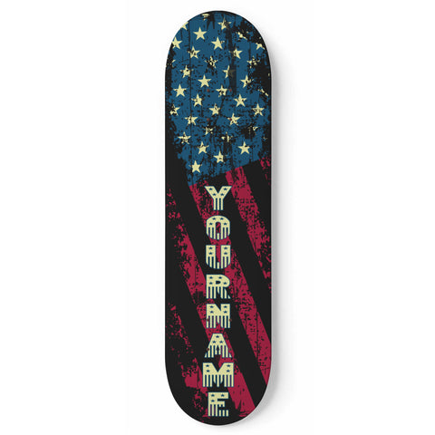 Custom Stars & Stripes Skateboard Wall Art