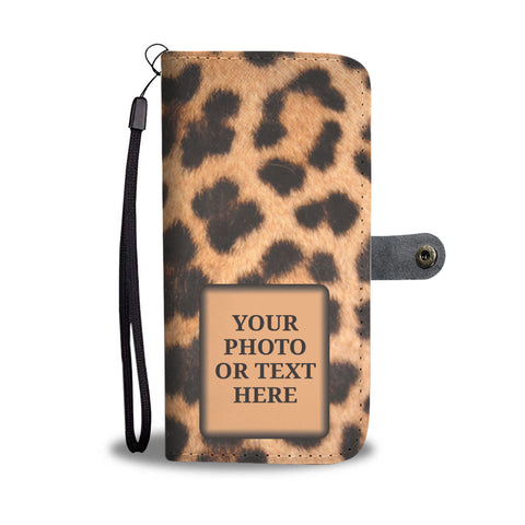 Leopard Print Personalized Wallet Phone Case