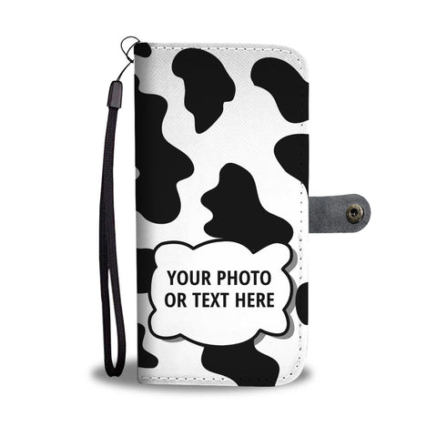 Cow Print Personalized Phone Case Wallet