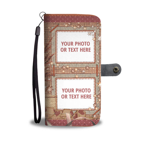 Cute 3 Photos Personalized Wallet Phone Case