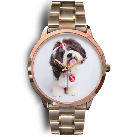 Personalized Photo Rose Gold Watch