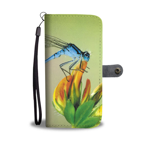 Floral Dragonfly Wallet Phone Case