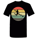 Soccer Retro Sunset Silhouette T-Shirt