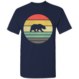 Grizzly Bear Retro Sunset T-Shirt