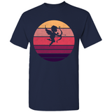 Cupid Retro Sunset Silhouette T-Shirt