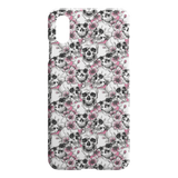 Pink Floral Skulls iPhone Case