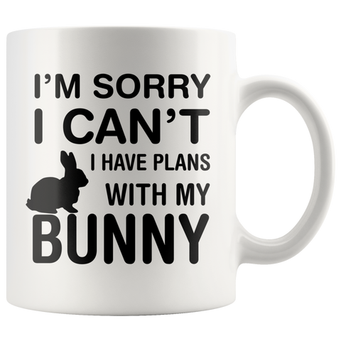 Plans With Bunny Coffee Mug