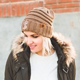 Monogrammed Slouchy Beanie