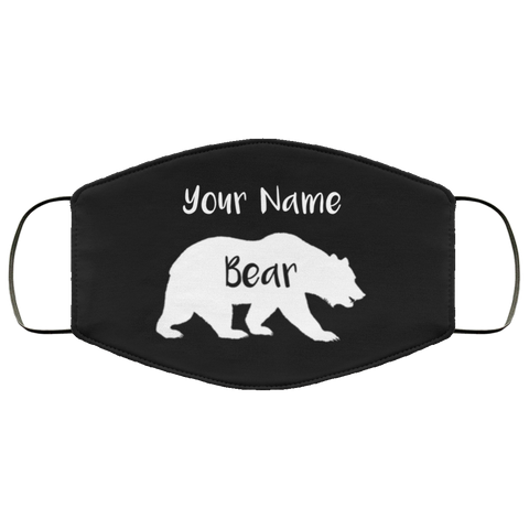 Personalized Bear Face Mask