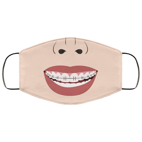 Braces Teeth Face Mask