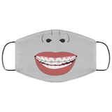 Funny Braces Teeth Face Mask