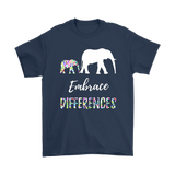 Autism Awareness Embrace Differences T Shirt