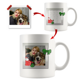 Christmas Personalized Photo Coffee Mug - White