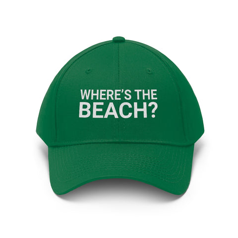 Where's The Beach Baseball Cap