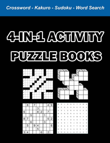 Digital Download 100 Printable Activity Puzzles