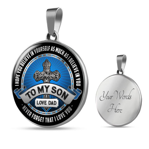To My Son Pendant Necklace