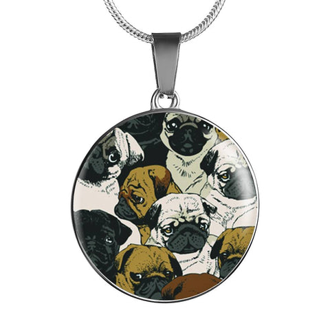 Awesome Pugs Pendant Necklace