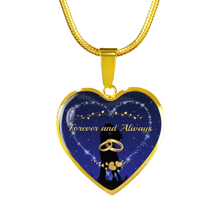 Forever and Always Gold Heart Necklace - Mix Web Shop