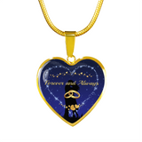Forever and Always Gold Heart Necklace