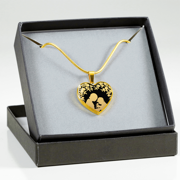 A Gift For You Gold Heart Necklace - Mix Web Shop