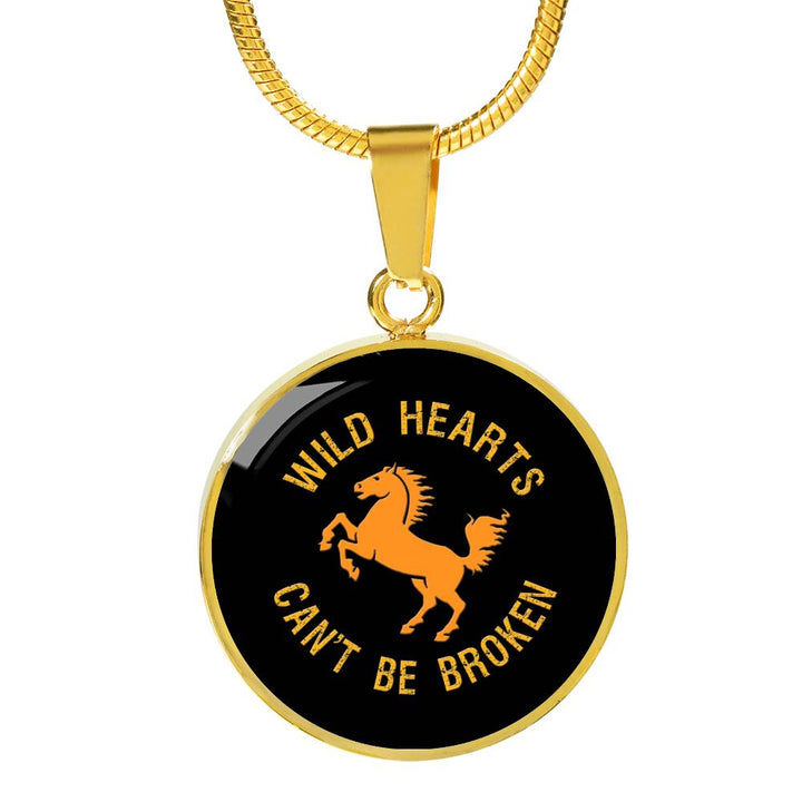 Wild Hearts Gold Pendant Necklace - Mix Web Shop