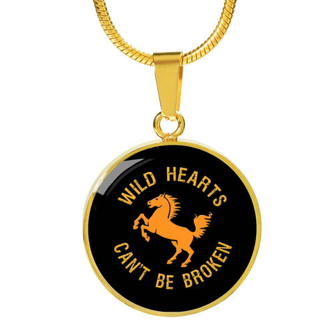 Wild Hearts Gold Pendant Necklace