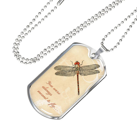 Dragonfly Dog-Tag Necklace - Mix Web Shop