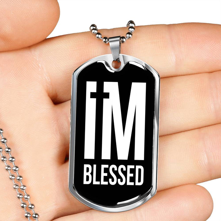 I'm Blessed Pendant Necklace