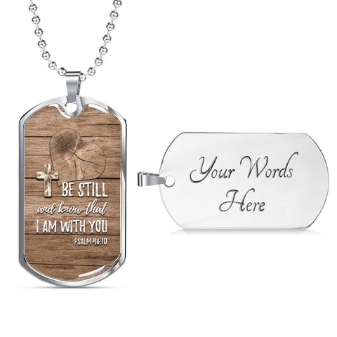 Be Still Christian Dog Tag Necklace - Mix Web Shop