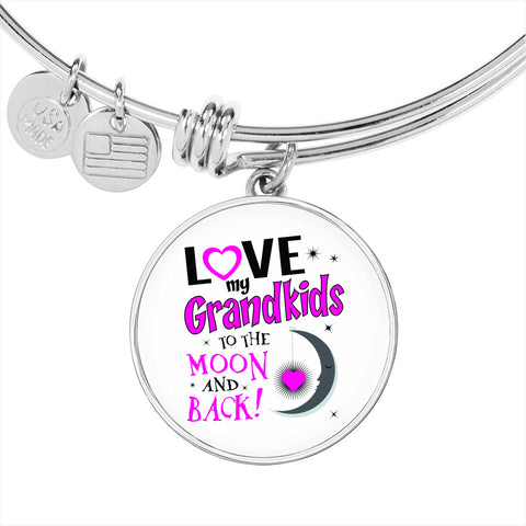 Grandma Bangle Bracelet - Love My Grandkids