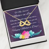 Mother-In-Law Infinity Heart Necklace With Message Card