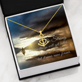 Be Strong Anchor Necklace With Custom Message Card