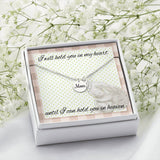 Mom Rememberance Necklace With Custom Message Card