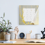 Yellow Floral Personalized Canvas Wall Art