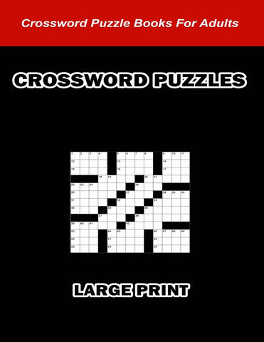 Digital Download 100 Printable Crossword Puzzles For Adults