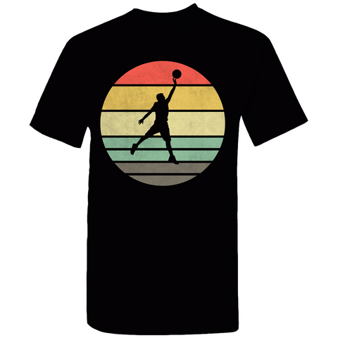 Basketball Retro Sunset Silhouette T-Shirt