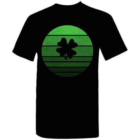 Shamrock Retro Sunset Silhouette T-Shirt