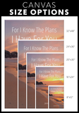 Christian Wall Art - For I Know The Plans