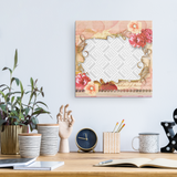 Floral Personalized Canvas Wall Art
