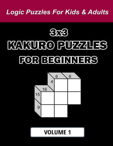 Digital Download 180 Printable Kakuro Puzzles For Beginners