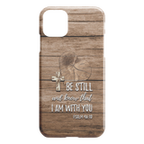 Be Still Christian Bible Verse iPhone Case