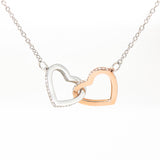 Mom To Daughter Interlocking Hearts Necklace - Always