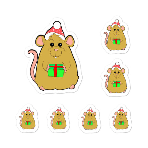 MouseHoliday Gift Christmas Santa Kiss Cut Stickers Phone Laptop Hydroflask