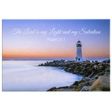 Christian Canvas Wall Art - My Light & Salvation