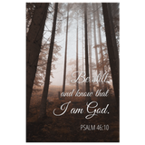 Forest Mist Christian Wall Art - Be Still