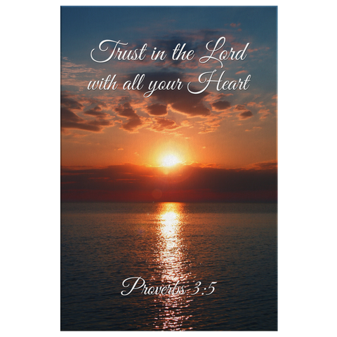 Christian Wall Art - Proverbs 3:5 Trust in the Lord