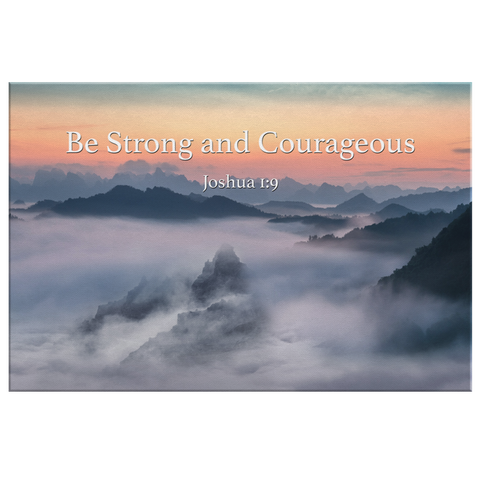 Christian Bible Quote Wall Art - Be Strong & Courageous
