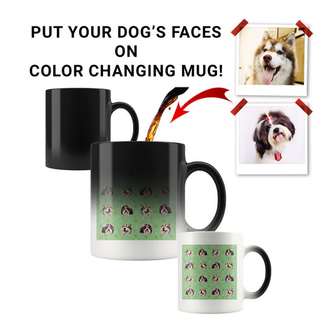 Custom Dog Faces Color Changing Mug